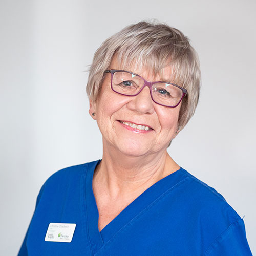 Christine Chadwick.  Hygiene services at  Morris Dental Care, Oldham